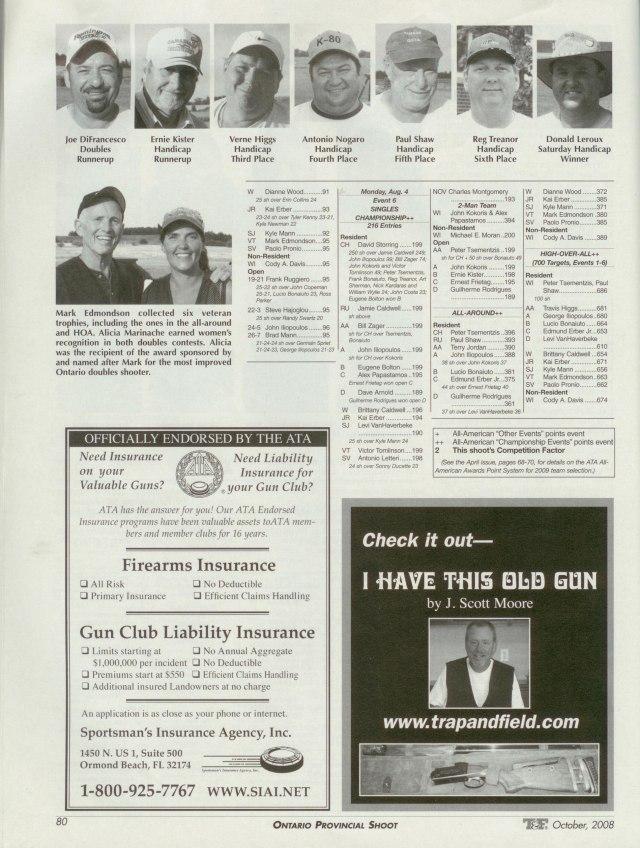 Trap & Field Magazine, OPTA Championship, 2008